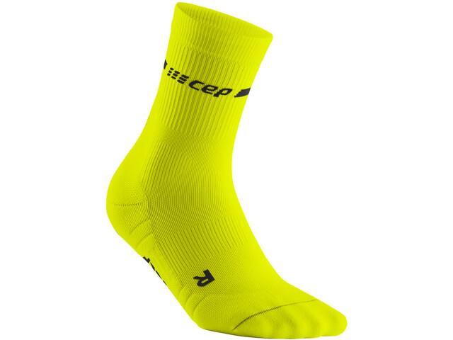 cep Neon Mid-Cut Socks Men, neon yellow